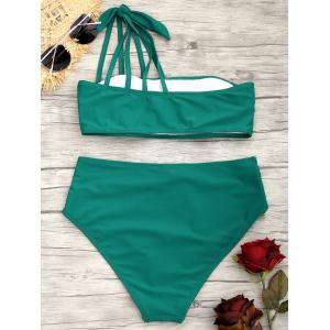 One Shoulder Strappy  Bikini Swimsuit -
