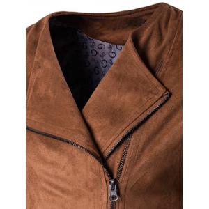 Zip Up Faux Suede Jacket -