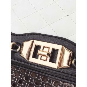 Twist Lock Chain Quilted Crossbody Bag -