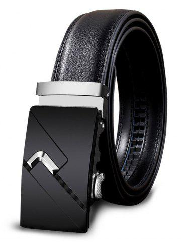 Store Vintage Automatic Buckle Faux Leather Wide Belt