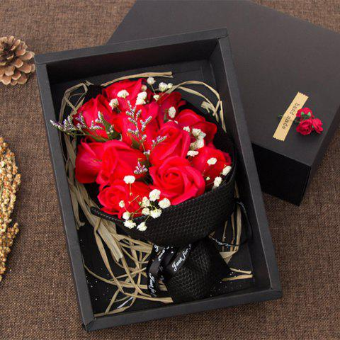 Discount 11 Pcs Soap Rose Flowers In A Box Valentine's Day Gift