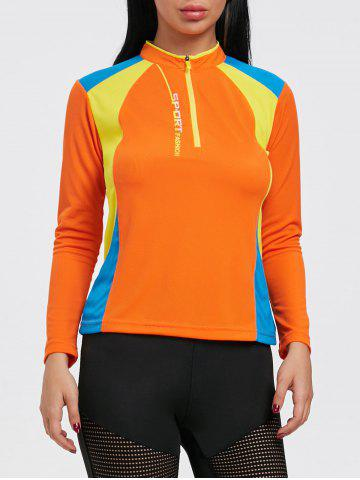 Trendy Color Black Half Zip Cycling T-shirt