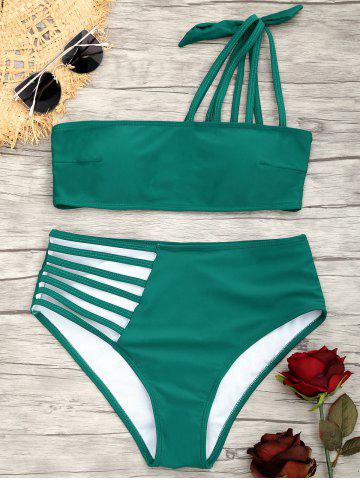 Latest One Shoulder Strappy  Bikini Swimsuit
