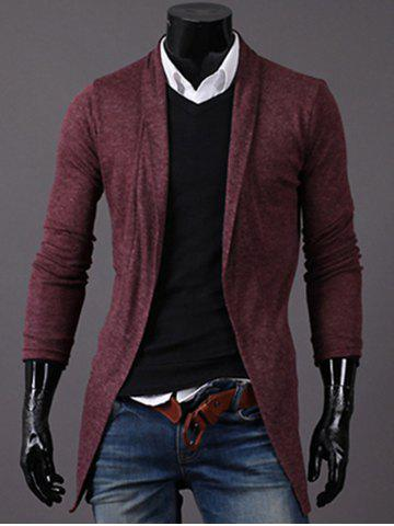 Knitted Open Front Longline Cardigan