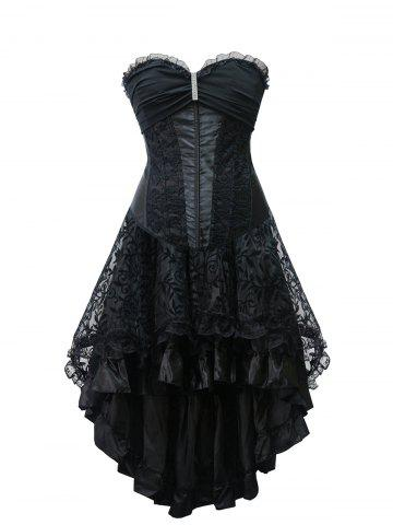 Best High Low Strapless Steel Boned Corset Dress