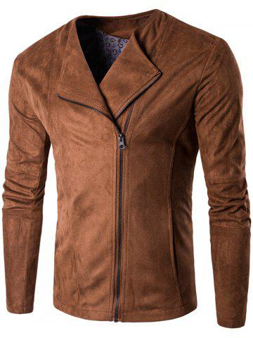 Zip Up Faux Suede Veste