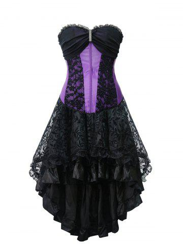 Outfit High Low Strapless Steel Boned Corset Dress