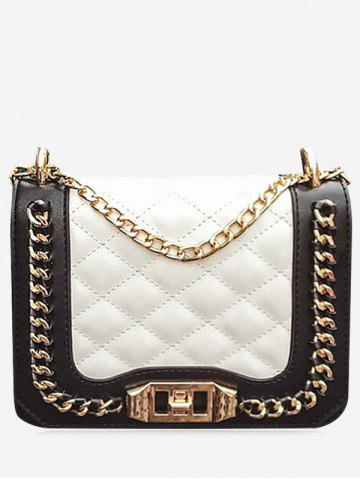 Online Twist Lock Chain Quilted Crossbody Bag