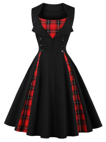 Outfits Vintage Plaid Pin Up Dress