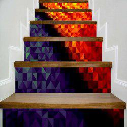 Geometric Patterned Decorative DIY Stair Stickers -
