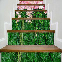Flowers and Plants Print Decorative Stair Stickers -