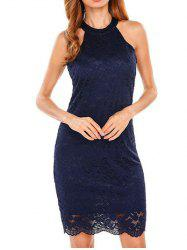 Halter Bodycon Lace Dress -