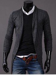 Knitted Open Front Longline Cardigan -