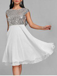 Glitter Flare Sequin Cocktail Dress -