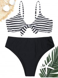Striped Plus Size Bikini Set -