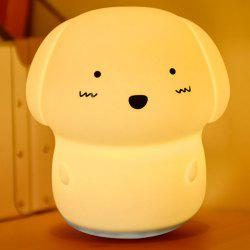 Adorable Dog 7 Colors Changing Sound Recording Nightlight -