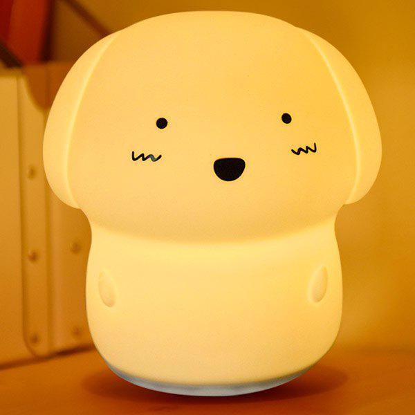 Affordable Adorable Dog 7 Colors Changing Sound Recording Nightlight