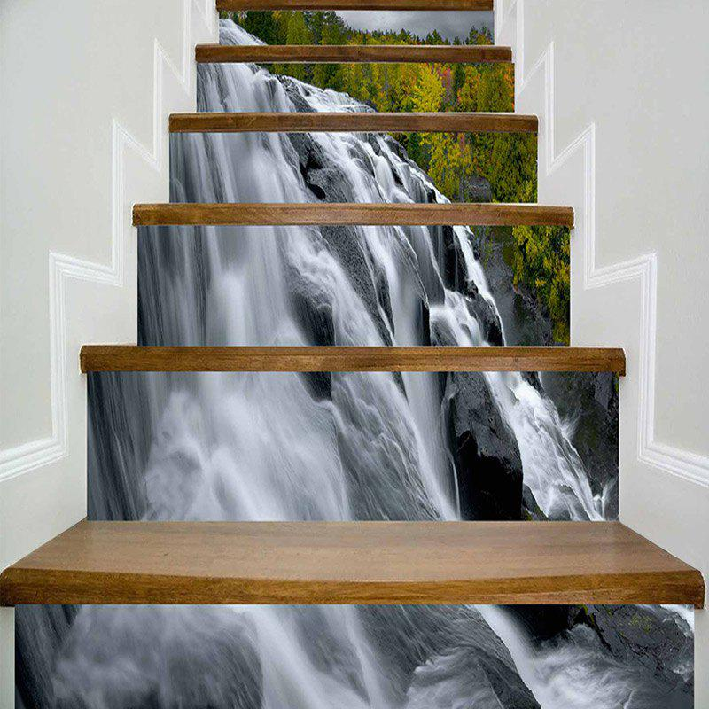 Latest Waterfall Print DIY Decorative Stair Stickers