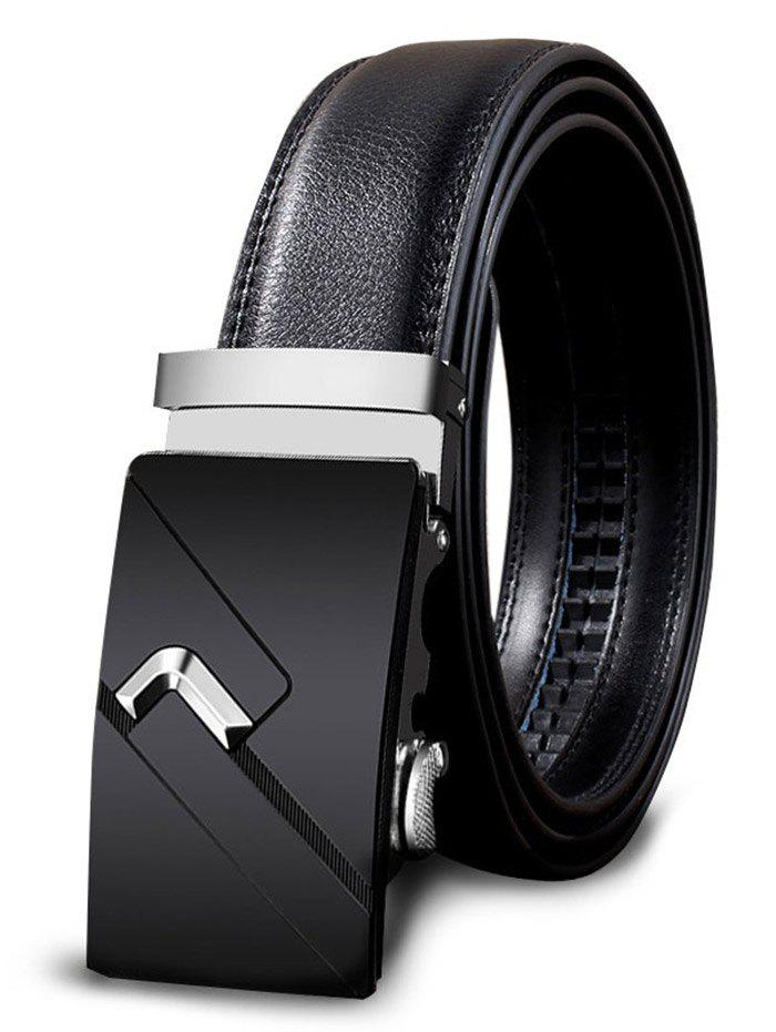 Online Vintage Automatic Buckle Faux Leather Wide Belt