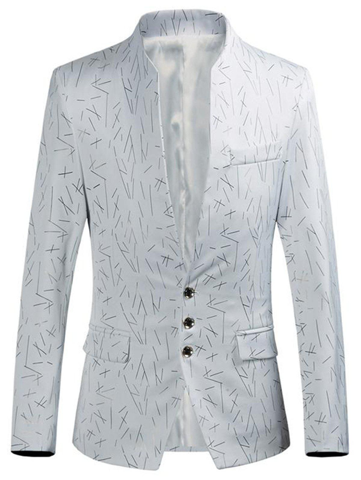 New Golden Printed Single Breasted Blazer