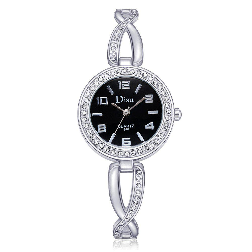 Online Alloy Strap Rhinestone Number Round Watch