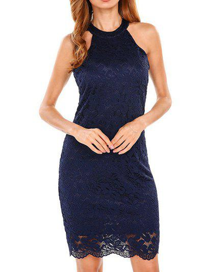 Store Halter Bodycon Lace Dress