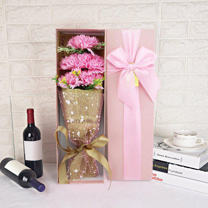 Outfits Flower Bouquet 5pcs Scented Soap Carnation Gift Box