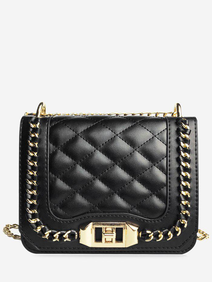 New Twist Lock Chain Quilted Crossbody Bag