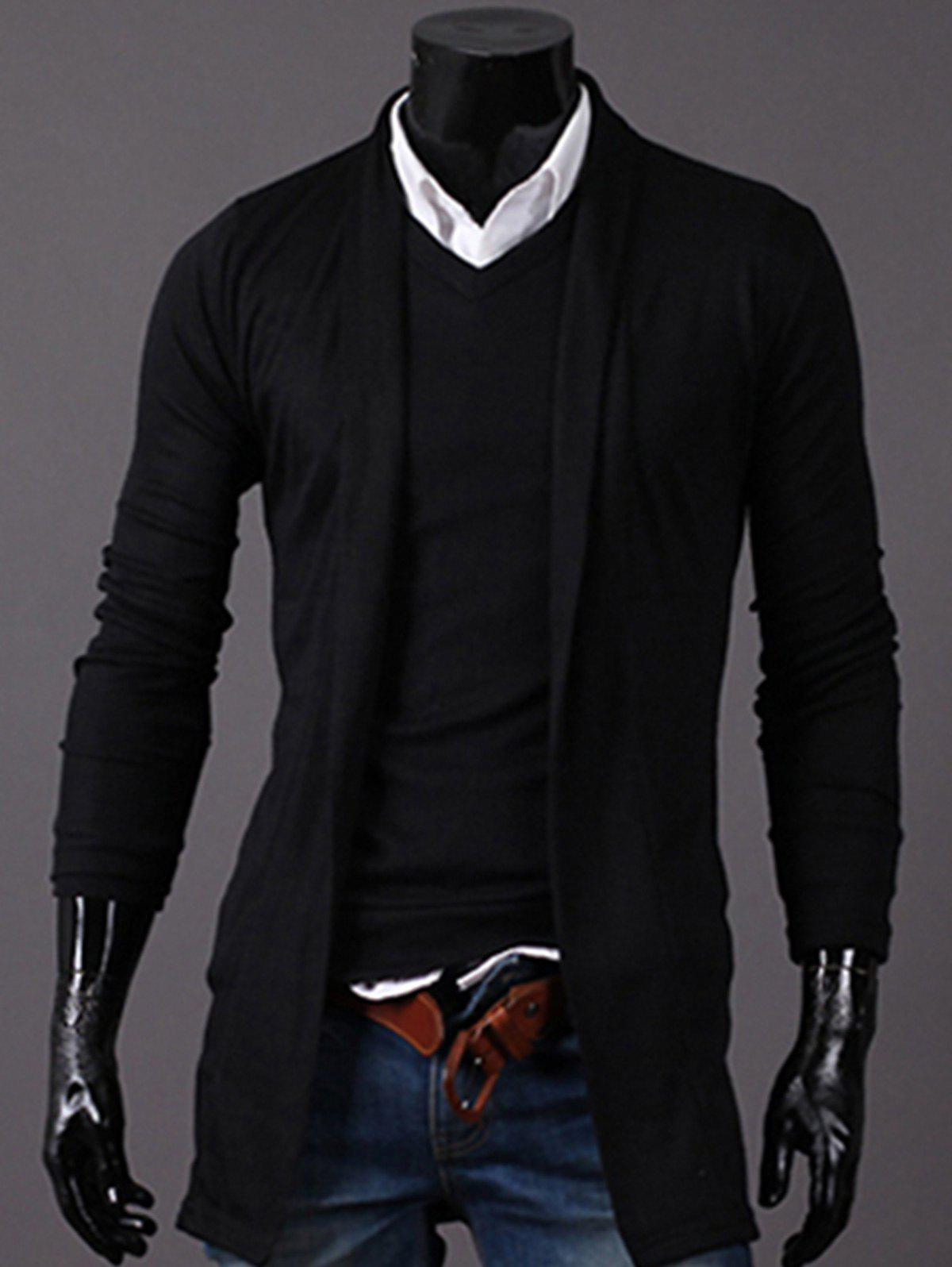 Hot Knitted Open Front Longline Cardigan