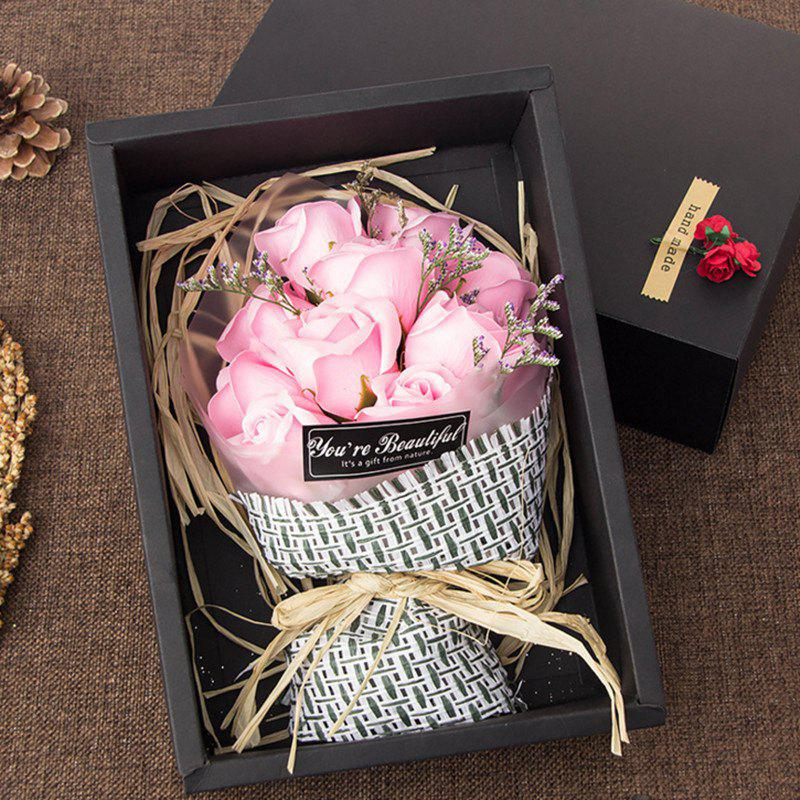 Affordable 11 Pcs Soap Rose Flowers In A Box Valentine's Day Gift