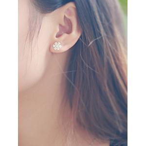 Snowflake Stud Tiny Earrings -