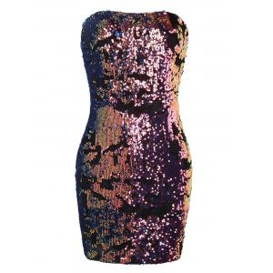Sparkly Sequins Tube Club Dress -