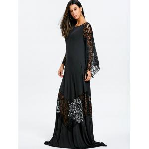 Lace Insert Maxi Prom Party Dress -