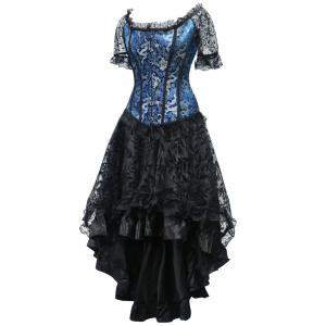 High Low Steel Boned Corset Party Dress -
