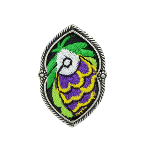 Ethnic Style Embroidery Fish Pattern Ring -