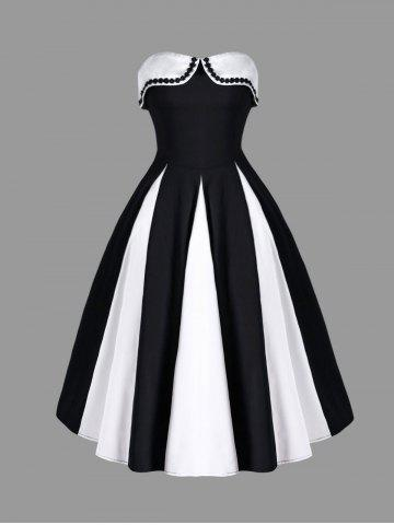 Unique Two Tone Strapless Dress