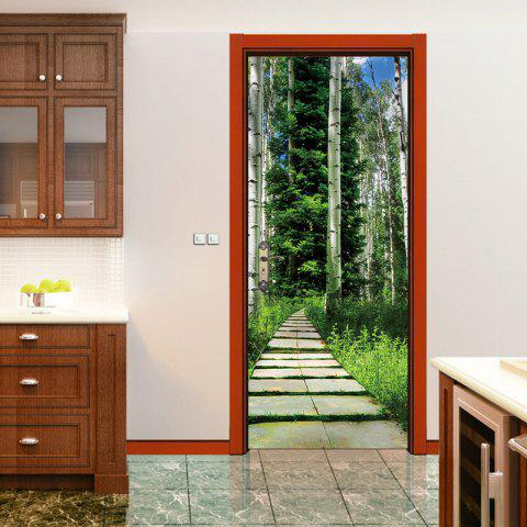 Affordable Tree Shaded Trail Door Art Stickers