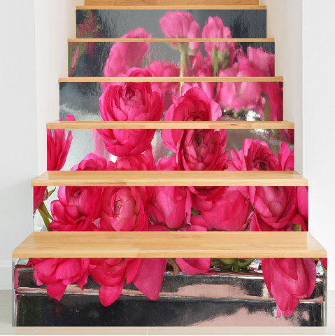 Shop Rose Flowers Pattern DIY Decorative Stair Stickers