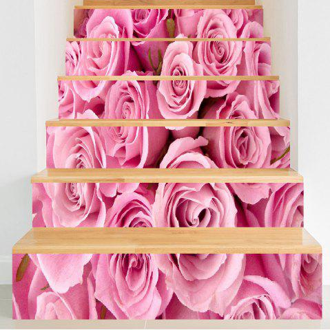 Best Valentine's Day Roses Pattern Decorative Stair Stickers