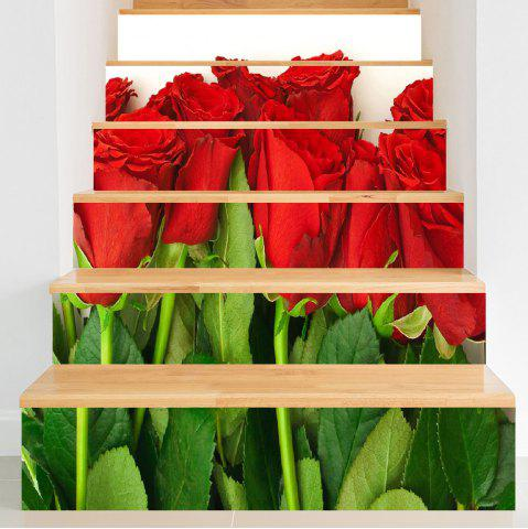Online Valentine's Day Roses Print Decorative Stair Stickers