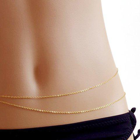 Store Layered Simple Alloy Belly Chain