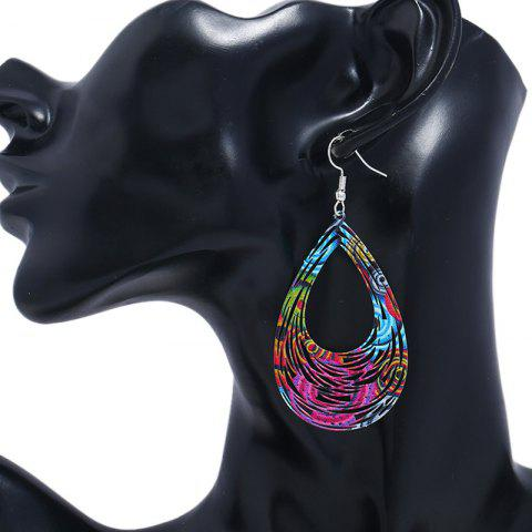 Sale Hollow Out Water Drop Hook Earrings
