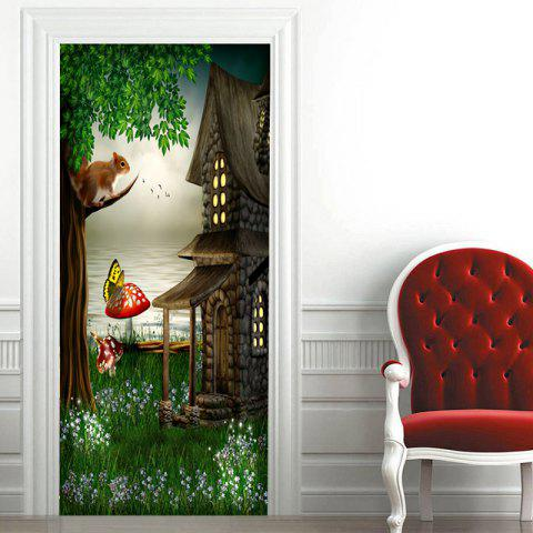 Outfits Fairytale Landscape Pattern Door Stickers