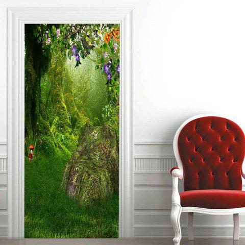 Buy Fairytale Landscape Pattern Door Art Stickers