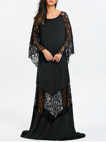 Buy Lace Insert Maxi Prom Party Dress