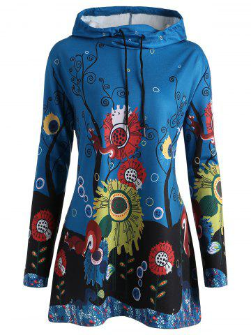 Discount Long Plus Size Forest Squirrel Hoodie