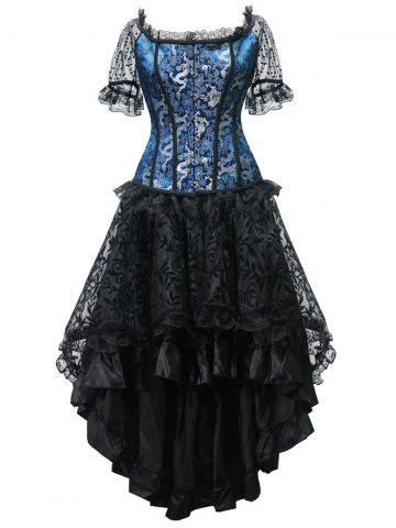 New High Low Steel Boned Corset Party Dress