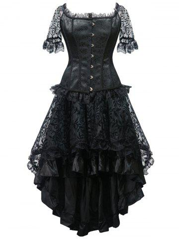 Cheap High Low Steel Boned Corset Party Dress