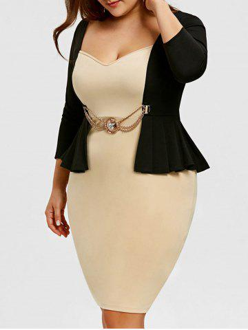 Discount Sweetheart Neckline Plus Size 2 In 1 Pencil Dress