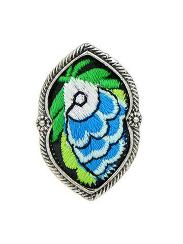 Hot Ethnic Style Embroidery Fish Pattern Ring